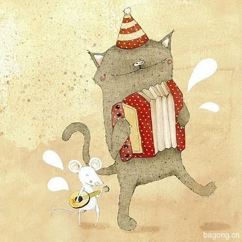 温馨动物插画12